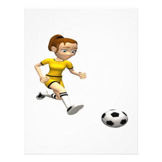 Footballeur féminin prospectus