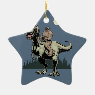 Footin auf dem Rex Keramik Stern-Ornament