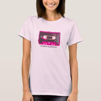For Nostalgie the old days - Kassette Pink T-Shirt