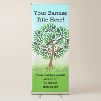 Förderndes Geschäft der grünen Baum-Natur Ausziehbarer Banner