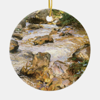 Forelle-Strom im Tirol durch John Sargent Rundes Keramik Ornament