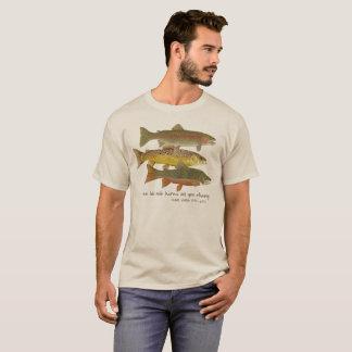 FORELLE u. Fliegen-Fischen-Kleid T-Shirt