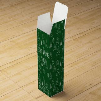 Forest Green-Gewohnheits-Weihnachten Weinbox
