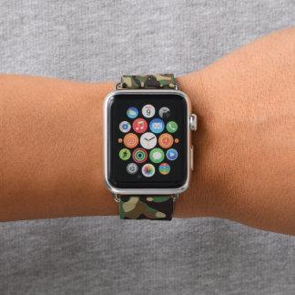 Forest Green und Brown-Tarnung. Ihre Camouflage Apple Watch Armband