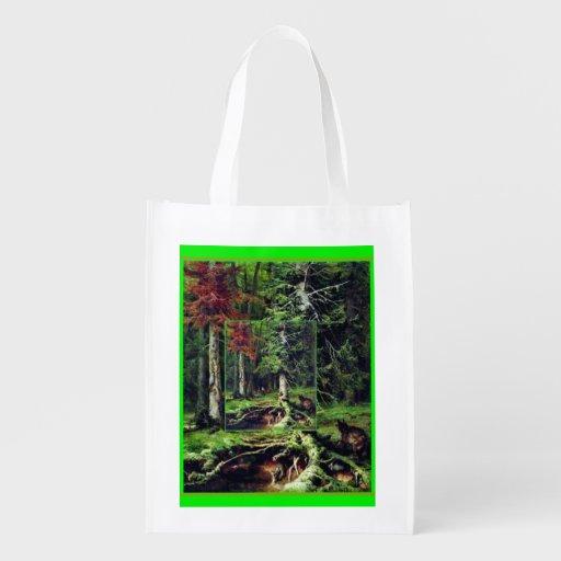 forêt de sac sac réutilisable d'épcierie