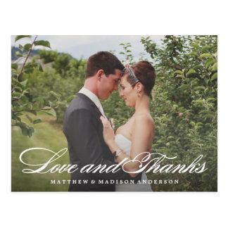 Formal danke Hochzeit zu überlagern Postkarte
