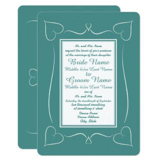 Formale aquamarine 12,7 x 17,8 cm einladungskarte