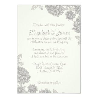 Formale Blumen-Hochzeits-Einladungen 12,7 X 17,8 Cm Einladungskarte