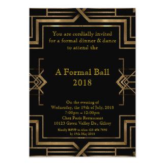 Formale des Abschlussballs ältere, große Gatsby 12,7 X 17,8 Cm Einladungskarte