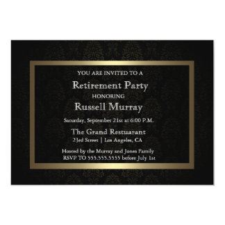 Formale Ruhestands-Party Einladung