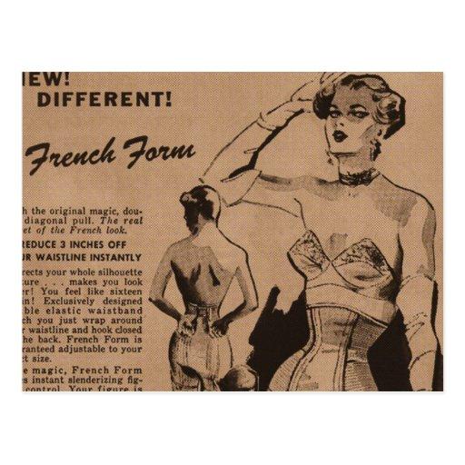 Forme française carte postale