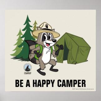 FörsterRick | großer amerikanischer Campout - Zelt Poster