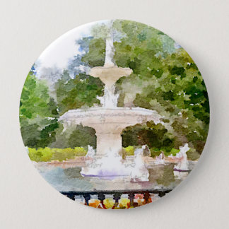 Forsyth Brunnen Aquarell-dem Druck in der Runder Button 10,2 Cm