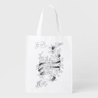 Fort, beau et courageux sacs d'épicerie réutilisables