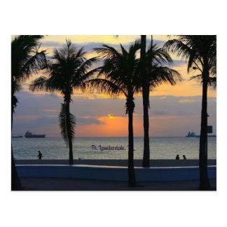 Fort- Lauderdalesonnenaufgang Postkarte