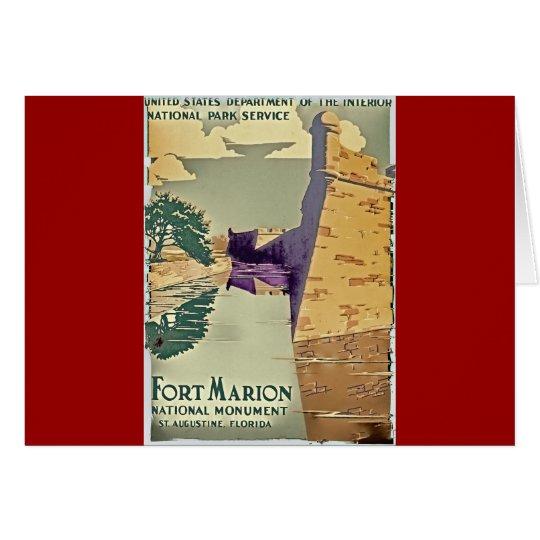 Fort-Marions-Entwurf Mitteilungskarte