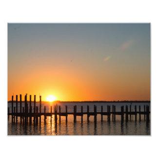 Fort Myers, schöner orange Sonnenuntergang Photo