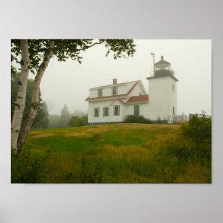 Fort-Punkt-Leuchtturm, Maine Poster