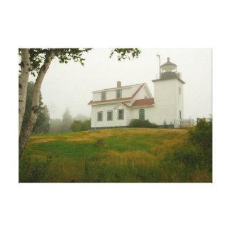 Fort-Punkt-Licht, Maine Leinwanddruck