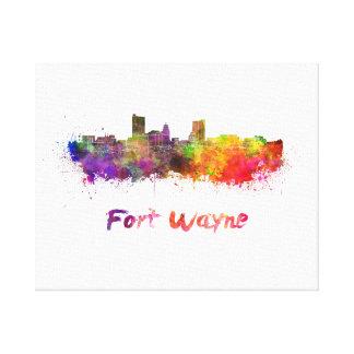 Fort Wayne skyline im Watercolor Leinwanddruck