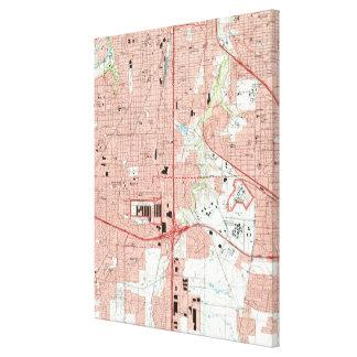 Fort Worth Texas Map (1995) Leinwanddruck