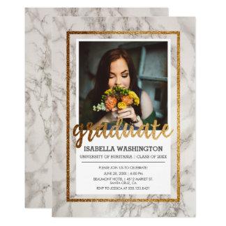 Foto-Abschluss-Party der Gold-u. 12,7 X 17,8 Cm Einladungskarte