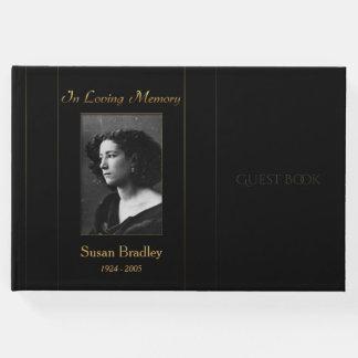 Foto-Begräbnis- Gast-Buch mit Goldrohrleitung Gästebuch