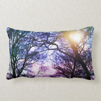 Foto-blaues und lila Baum-Kissen Zierkissen