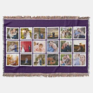 Foto-Collagen-Gewohnheits-Farbe Decke