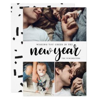 Foto-Collagen-neues Jahr-Karte des neues Karte