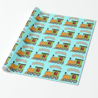 Foto-Dampf-Zug Choo Choo Verpackungs-Papier Geschenkpapier