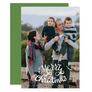 Foto der frohen Weihnachten, kundengerechte Farbe Karte