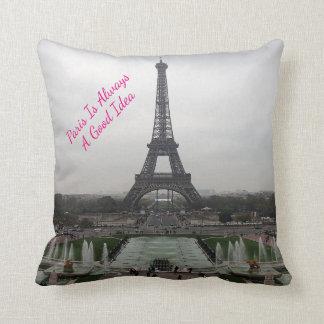 Foto des Eiffel-Turms, Paris, Frankreich Kissen
