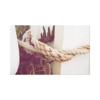Foto Detail Knoten im maritimen Spaziergang Leinwanddruck