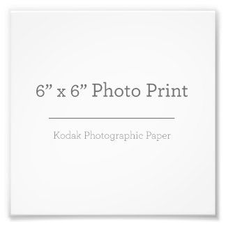 Foto-Druck der Gewohnheits-6 x 6 Photo