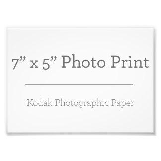 Foto-Druck der Gewohnheits-7 x 5 Fotodruck