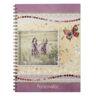 Foto-Einklebebuch-Seite Spiral Notizblock