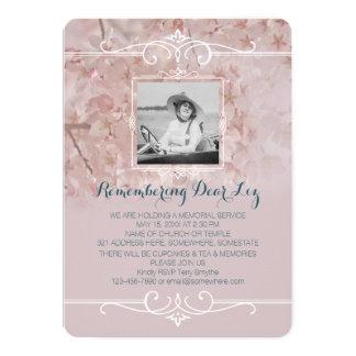 Foto-Erinnerungsservice-staubige rosa Kirschblüten Karte