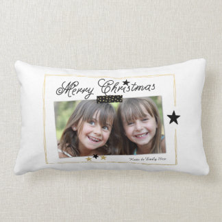 Foto-Feiertags-Geschenk-Kissen der Stern-frohen Zierkissen