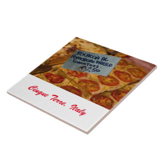 Foto-Fliese - Focaccia Pizza - Cinque Terre, Große Quadratische Fliese