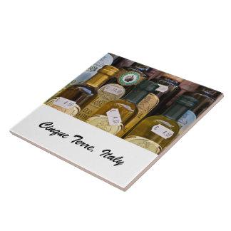 Foto-Fliese - Olivenöle - Cinque Terre, Italien Große Quadratische Fliese