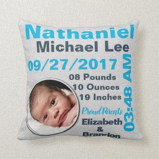 Foto-Fotografie-personalisierter Geburts-Notfall Kissen