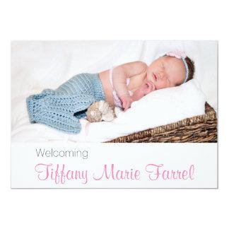 Foto-Geburts-Mitteilung 12,7 X 17,8 Cm Einladungskarte