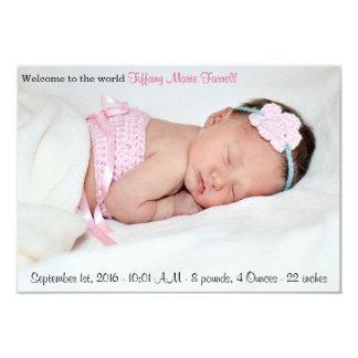 Foto-Geburts-Mitteilung 8,9 X 12,7 Cm Einladungskarte