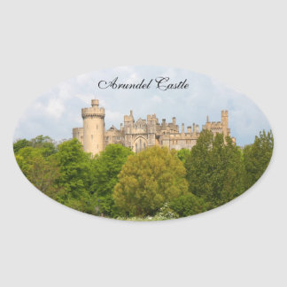 Foto-Gewohnheitsaufkleber Arundel-Schlosses Ovaler Aufkleber