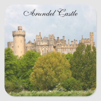 Foto-Gewohnheitsaufkleber Arundel-Schlosses Quadrat-Aufkleber