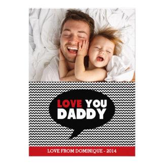 Foto-glückliche des Liebe-Sie Vati- der Personalisierte Ankündigungskarte
