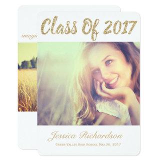 Foto-GoldFoto-Abschluss-Mitteilung 2017 12,7 X 17,8 Cm Einladungskarte