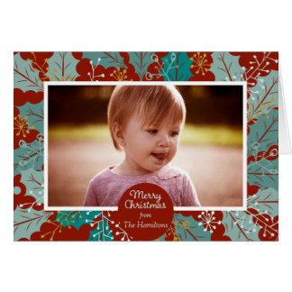 Foto-Grußkarte der frohen Weihnachten Karte