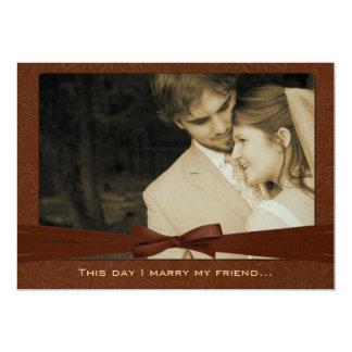 Foto-Hochzeit laden mich heiraten meine 12,7 X 17,8 Cm Einladungskarte